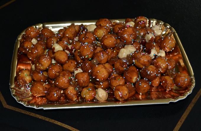 Struffoli (Fried Dough With Honey And Almonds) Recipes — Dishmaps